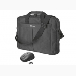 TRUST CARRY BAG With Mouse - Τσάντα Notebook 16 με ποντίκι - Μαύρο